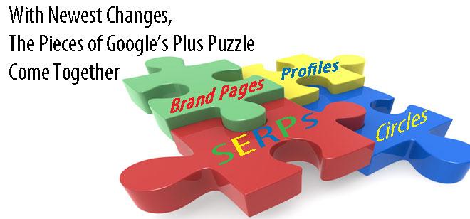 Google Plus SERPs Integration Puzzle Pieces