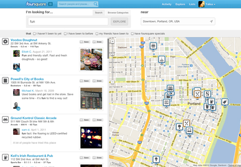 Foursquare Joins the Search Engine Community